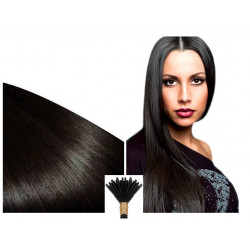 Extensions à froid brunes cheveux raides 63 cm 0.85 Gr