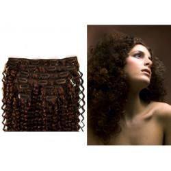 Extensions à clips chocolat cheveux frisés 63 cm