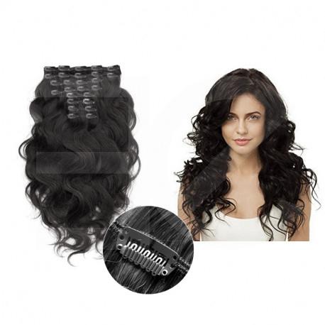 Extensions cheveux clips noir