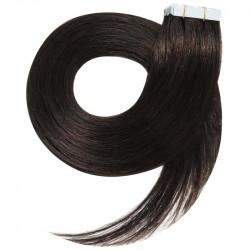 Extensions adhésives brunes cheveux raides 50 cm