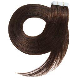 Extensions adhésives chocolat cheveux raides 50 cm