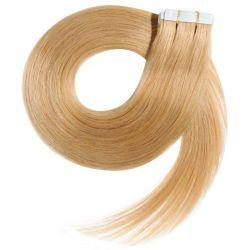 Extensions adhésives blondes cheveux raides 50 cm