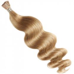 Extensions n°1 (noir) cheveux 100% naturels à froid 50 cm Bouclé/ondulé