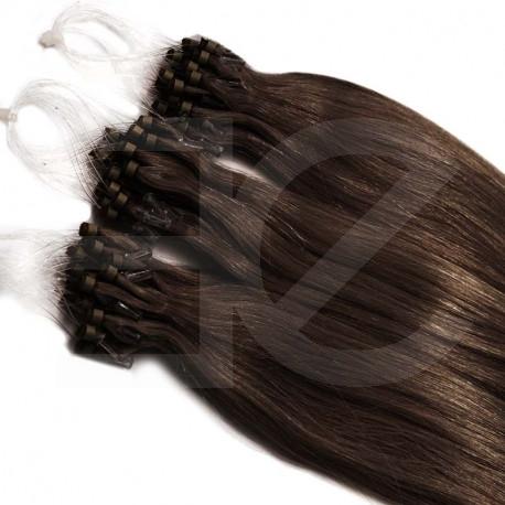 Extensions à loops chocolat cheveux raides 61 cm