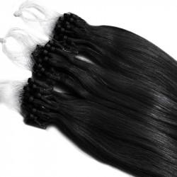 Extension cheveu naturel noir n°1 loop 48 cm 1 Gr
